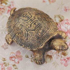 大型生铁龟摆件长20厘米