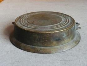 老包浆铜古玩座