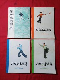 (甲组枪术图解)(乙组枪术图解)(乙组剑术图解)(乙组长拳图解)四本合售