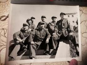 萧克将军与战友七十年代末合影(原版)17cm×15cm