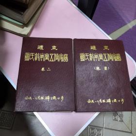 南阳邓氏源流史【卷壹、卷二两本一套合售】