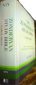 英文原版        NIV Zondervan Study Bible      (Large Print 内附16幅地图)