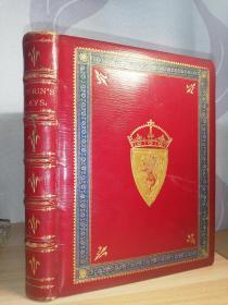 1850年  Lays  of Scotish Cavaliers and Other Poems  含近70副插图 书坊RAMACE装帧 豪华烫金全皮装帧  三面书口刷金 24.5X20CM