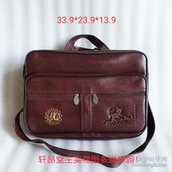 yingpang品牌、立体狮子图案、手提/挎肩两用式 大皮包