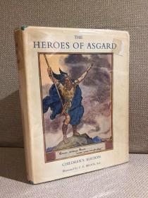 The Heroes of Asgard(A. & E. 基尔里《阿萨神族英雄传》,北欧神话,难找的C. E. Brock插图版,精装带护封,1963年老版书)