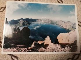 佚名:长白山天池彩照一张12cm×19cm