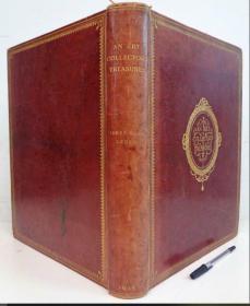 1916年 超大开本 An Art Collectors Treasures 含80副整版彩色图  限量300本 全摩洛哥真皮装帧  书顶刷金 两侧毛边 烫金封面 39X30CM  重4.2KG