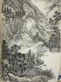 中国著名山水画家王敏,王彦芬老师四尺整张国画作品