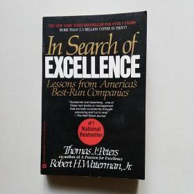 英文原版 《追求卓越》 In Search of Excellence: Lessons from Americas Best Run Companies