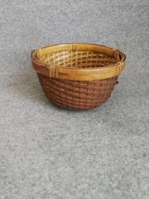 日本回流茶道具 老竹茶篮