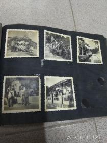 五十年代老照片相册一本(内有五十七张老照片)  五六十年代的老照片相册一本,共是 五十七张照片合售