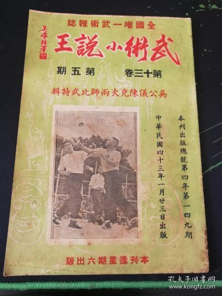 武术杂志:武术小说王  第十三卷 第五期