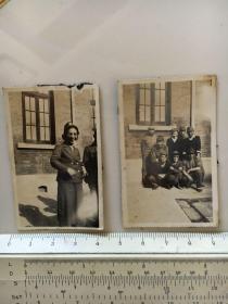 民国抗战时期原版老照片:日本鬼子日军慰问团在江苏昆山照片2张