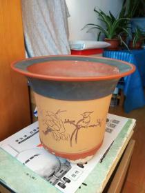 兰花紫砂花盆