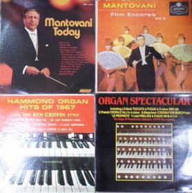 留声机专用 MANTOVANI DAVID HILL KEN GRIFFIN    黑胶唱片4只 港版