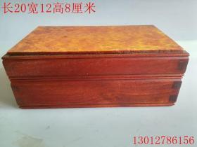 清代花梨木镶嵌金丝楠首饰盒古董古玩木雕摆件