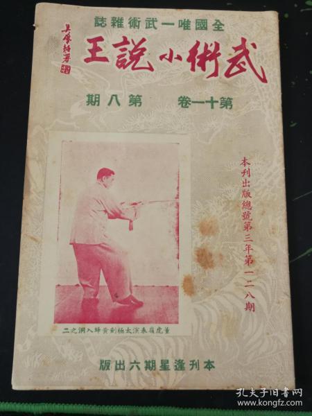 武术杂志:武术小说王 第十一卷 第八期