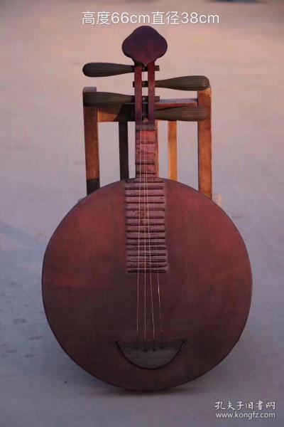 古乐器~月琴,做工精细,造型别致,品相完好,尺寸如图