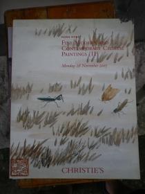 佳士得(CHRISTIE`S)香港2005年中国近现代书画拍卖图录