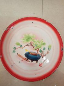 文革搪瓷茶盘