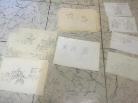 手稿、漫画本少儿学围棋手绘稿50页