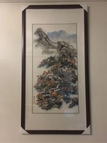 中国文史馆员,全国政协委员,著名爱国将领程潜之女程熙山水画(保真)
