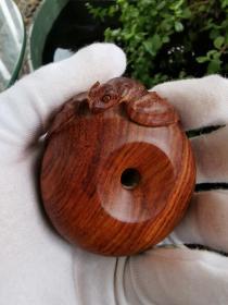 木雕把件(平安是福)65.9克。保真无假。