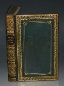 1819年 WALTER SCOTT: The Lady of the Lake 司各特经典叙事长诗 《湖上夫人》全抛光小牛皮善本古董书 品佳 增补插图