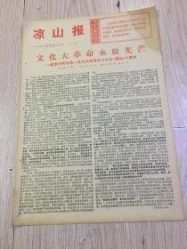 文革报纸-凉山报1976年5月16日(8开四版);永放光明。