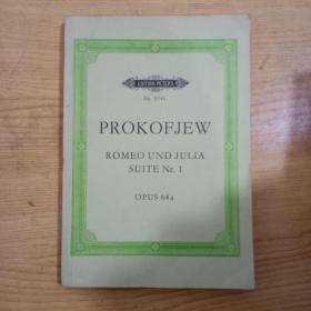 普罗柯菲耶夫罗密欧与朱丽叶第1组曲曲谱,原版正版内里全是五线谱PROKOFJEW ROMEO UND JULIA SUITE Nr.1