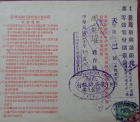 ax520民21年聚兴诚银行双页存折,贴四川石印地图旗印花税票一版二分