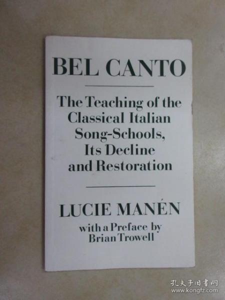 外文书  LUCIE  MANEN  BEL  CANTO(共75页)
