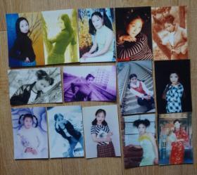 美女彩色照片32张(9品相)高12.5厘米宽8.5厘米m78