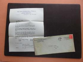 1919年10月10日美国(辛辛那提寄耶茨城)大实寄封贴邮票1枚、含信件(25)
