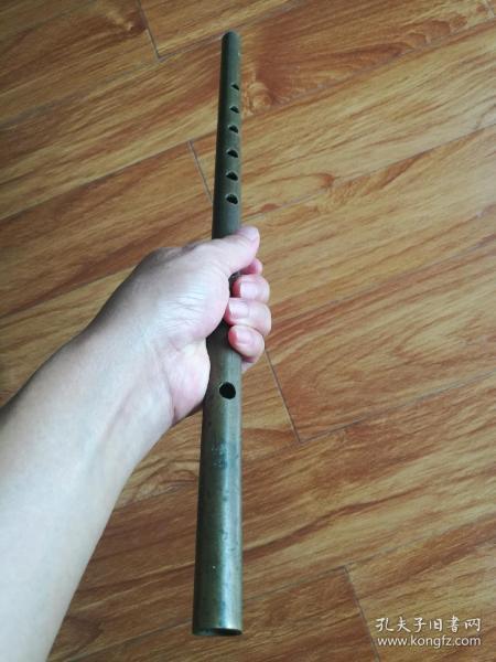 清末民初厚壁铜笛