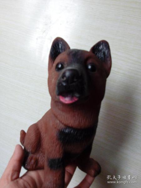 小狼狗胶皮玩具