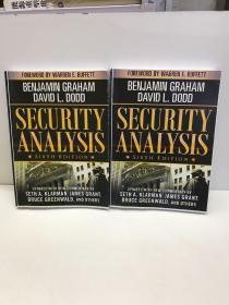 Security Analysis Principles and Technique(Sixth Edition)(l、ll)全2卷(英文版)如图包邮