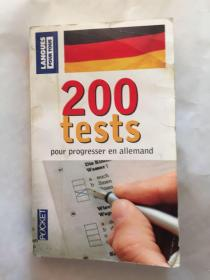200 Tests pour progresser en allemand 200次德语进修考试(French Edition)法文书法语书(外文原版)