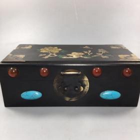 红木镶贝 镶宝石 盒子