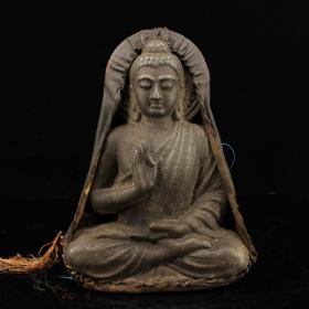西藏寺院收玄铁释迦摩尼佛祖牌