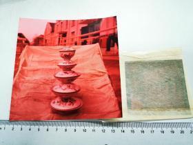 1960早期安徽画报摄彩色反转底片三种:祁门瓷器厂粉彩瓷器产品,加2002冲洗片三张,有点偏色