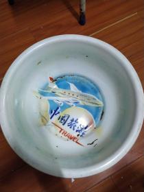 中国旅游搪瓷盆(沈阳市搪瓷厂,红玫瑰牌)