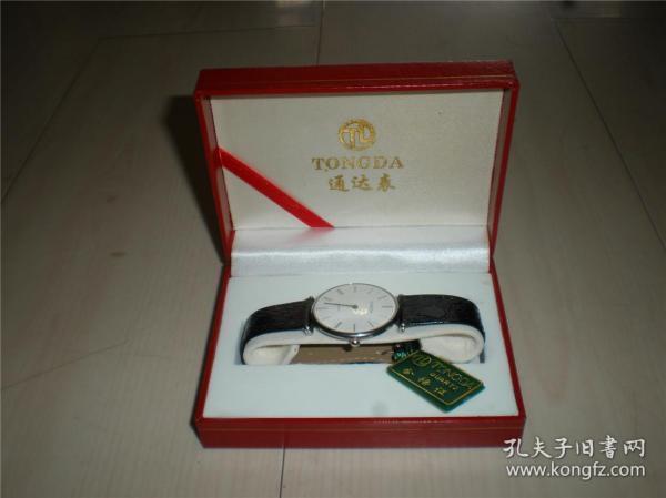 钟表类:收藏适用佩戴皮带男款精致走时准确通达手表一块(一)