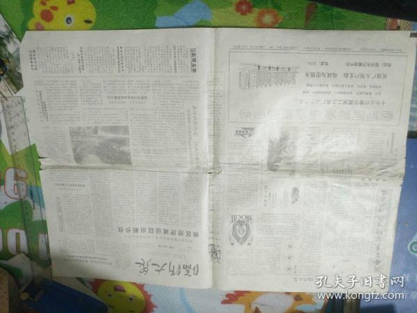 少见!1985年复刊的临沂大众报一份!上面刊有临沂著名画家孙振国先生画一幅!