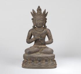 旧藏十六世纪铜观音坐像