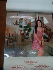 94年挂历【塑胶玻璃纸】香港明星--利智,巩俐,王祖贤,周慧敏,张敏,叶玉卿---