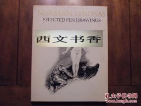 稀缺本,珍藏版《诺曼.林赛的精美钢笔画》约60幅图录,1968年纽约出版