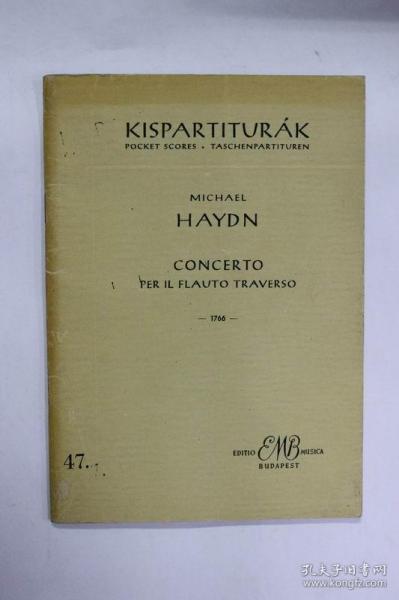 法文原版 基斯帕特拉克协奏曲穿越KISPARTITUR?K