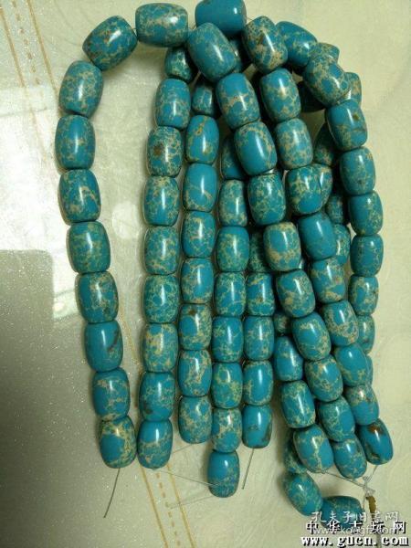 帝王血绿松石项链