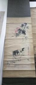 年底清仓:原装老裱王雪涛(猫)